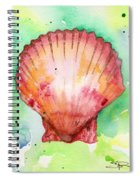 Red Shell Spiral Notebook