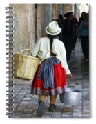 Red Skirted Woman Of Cuenca Spiral Notebook