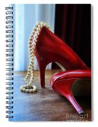 Red Shoes And Pearls Spiral Notebook