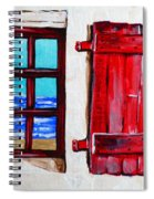 Red Shutter Ocean Spiral Notebook
