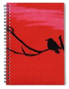 Red - Silhouette - Sunset Spiral Notebook