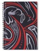 Red Skin Spiral Notebook