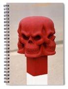 Red Skull Spiral Notebook