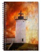 Red Sky At Morning - Nubble Lighthouse Spiral Notebook
