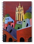 Red Sky In San Miguelle De Allende Spiral Notebook