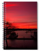 Red Sky In The Morning Two Spiral Notebook