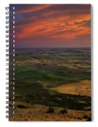 Red Sky Over The Palouse Spiral Notebook