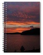 Red Sky Over Wachusett 1 Spiral Notebook