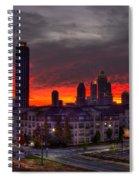 Red Sky Sunrise Midtown Atlanta Spiral Notebook