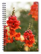 Red Snapdragons Spiral Notebook