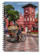 Red Square Malacca Spiral Notebook