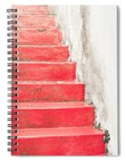 Red Stone Steps Spiral Notebook