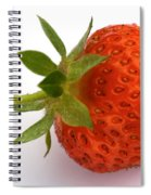 Red Strawberry With Stem Spiral Notebook