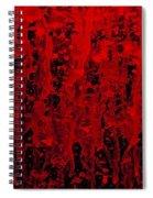 Red Streaks Spiral Notebook