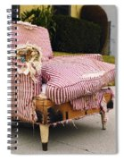 Red Striped Chair Spiral Notebook