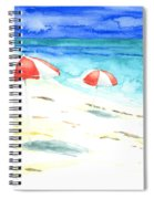 Red Stripes Spiral Notebook
