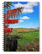 Red Sumac Field Spiral Notebook