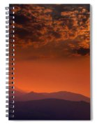 Red Sumer Sunset Spiral Notebook