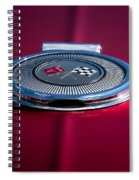 Red Sunburst Spiral Notebook