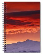 Red Sunrise Over National Park Sierra Nevada Spiral Notebook