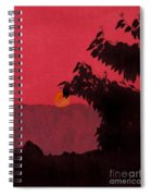 Red - Sunset Spiral Notebook