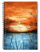 Red Sunset Spiral Notebook