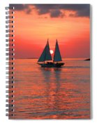 Red Sunset Spiral Notebook