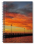 Red Sunset Pier Seaside Nj Spiral Notebook
