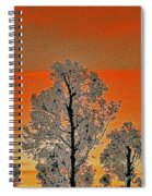 Red Sunset With Trees Spiral Notebook