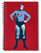 Red Superman Spiral Notebook