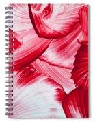 Red Swirls Background Spiral Notebook