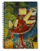 Red Table Top Still Life Spiral Notebook