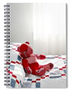 Red Teddy Bear Spiral Notebook