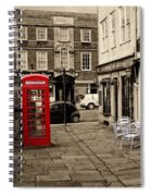 Red Telephone Box Spiral Notebook