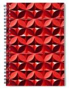 Red Textured Wall Spiral Notebook