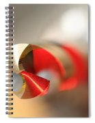 Red Three Quarter Spiral Notebook