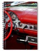 Red Thunderbird Dash Spiral Notebook