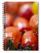 Red Tomatoes At The Market Spiral Notebook