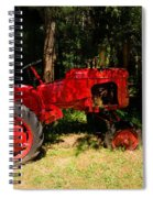 Red Tractor Spiral Notebook