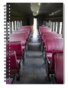 Red Train Seats Spiral Notebook