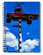 Red Truck With Cross Spiral Notebook