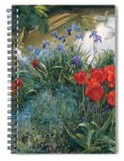 Red Tulips And Geese  Spiral Notebook