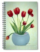 Red Tulips In A Pot Spiral Notebook