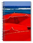 Red Umbrellas  Spiral Notebook