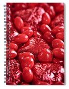 Red Valentine Candy Hearts Spiral Notebook