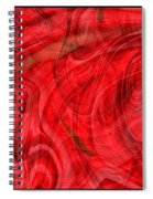 Red Veil Abstract Art Spiral Notebook