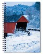 Red Vermont Covered Bridge Spiral Notebook