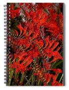Red Devils Tongue Vine Vertical Spiral Notebook