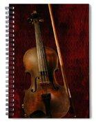 Red Violin Spiral Notebook