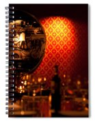 Red Wall And Dinner Table Spiral Notebook